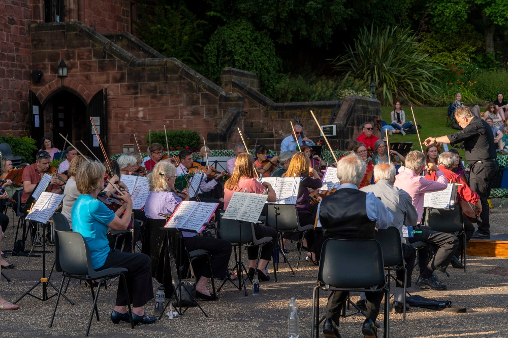 Shrewsbury Orchestra in the castle
